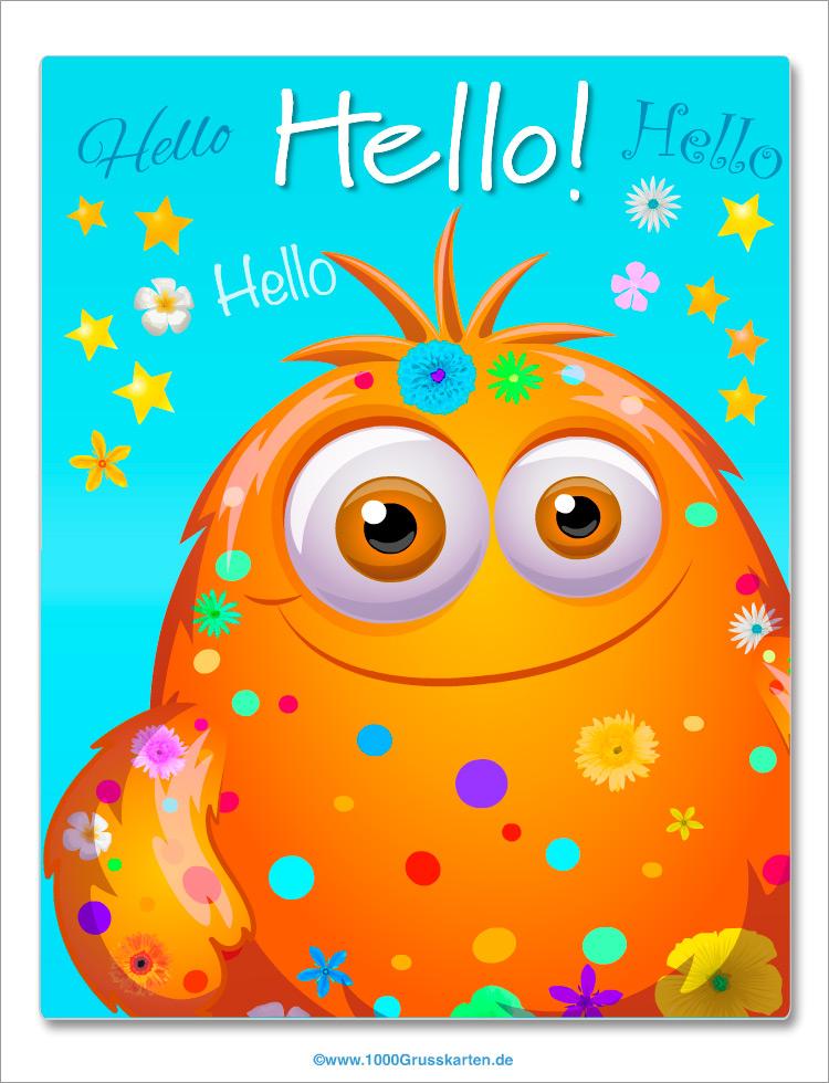 E-Card - Hallo E-Card