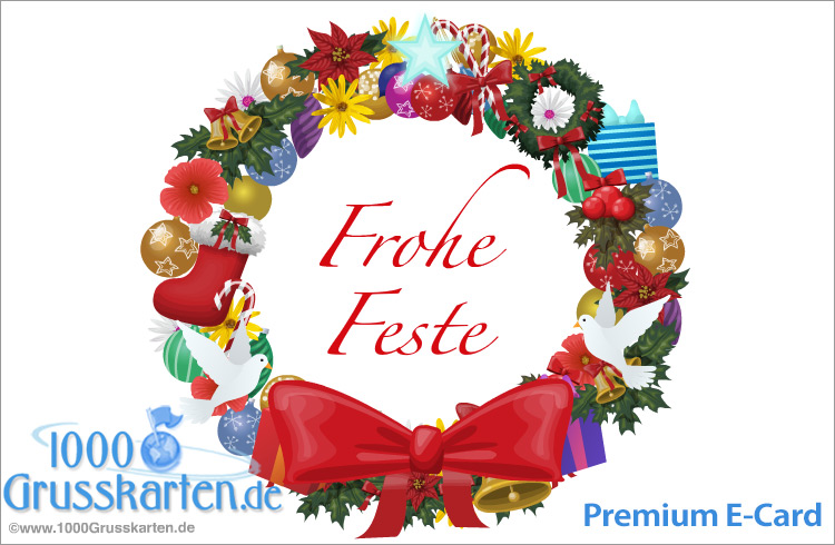 E-Card - Karte mit Weihnachten Ornament