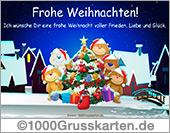 Weihnachten E-Card mit Bären