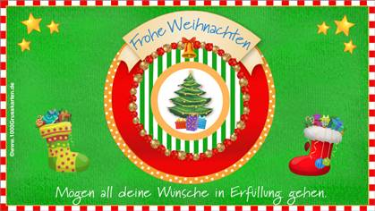 Frohe Weihnachten EKarte