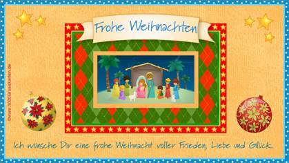 Religiöse Weihnachtskarte