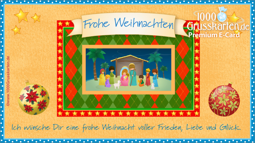 E-Card - Religiöse Weihnachtskarte