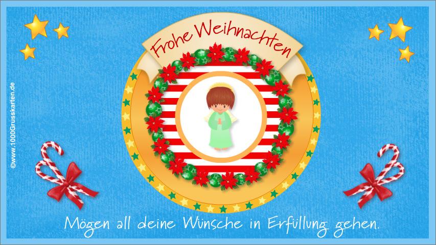 E-Card - Frohe Weihnachten E-Card mit Engel