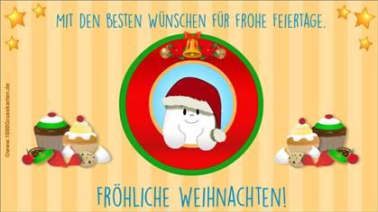 Fröhliche Weihnachten E-Karte