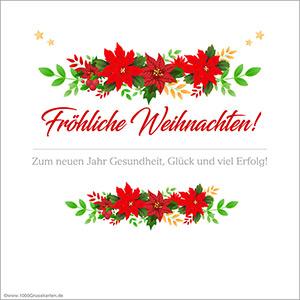 Frohe Feiertage und Neujahrskarte
