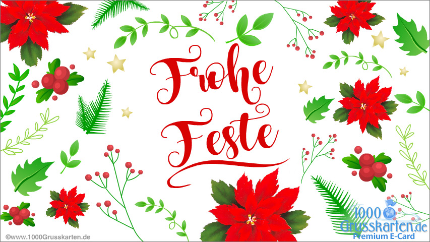 E-Card - Frohe Weihnachtsfeiern