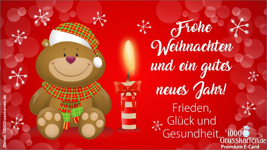 E-Card - Frohe Weihnachten und Neujahr