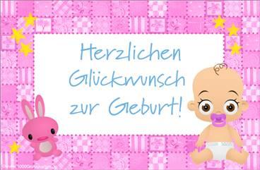 Glückwünsche zur Geburt E-Karte