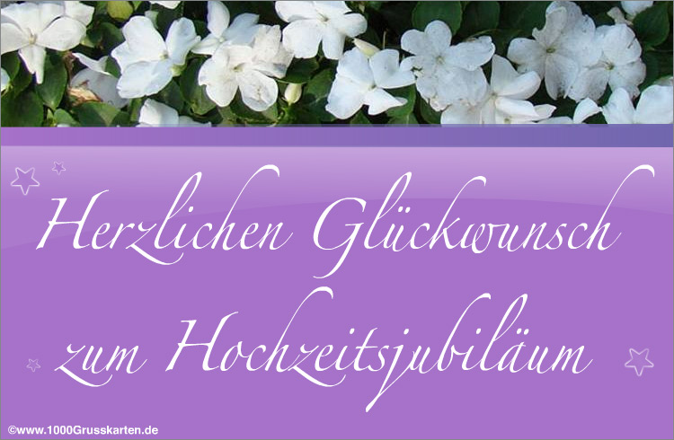 E-Card - Jubiläen E-Card