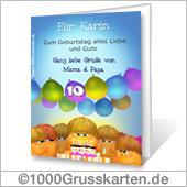 Grußkarte zum Drucken: Geburtstagskuchen
