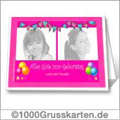 Geburtstagskarte zum Ausdrucken mit Fotos