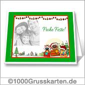 Lustige Weihnachtskarte