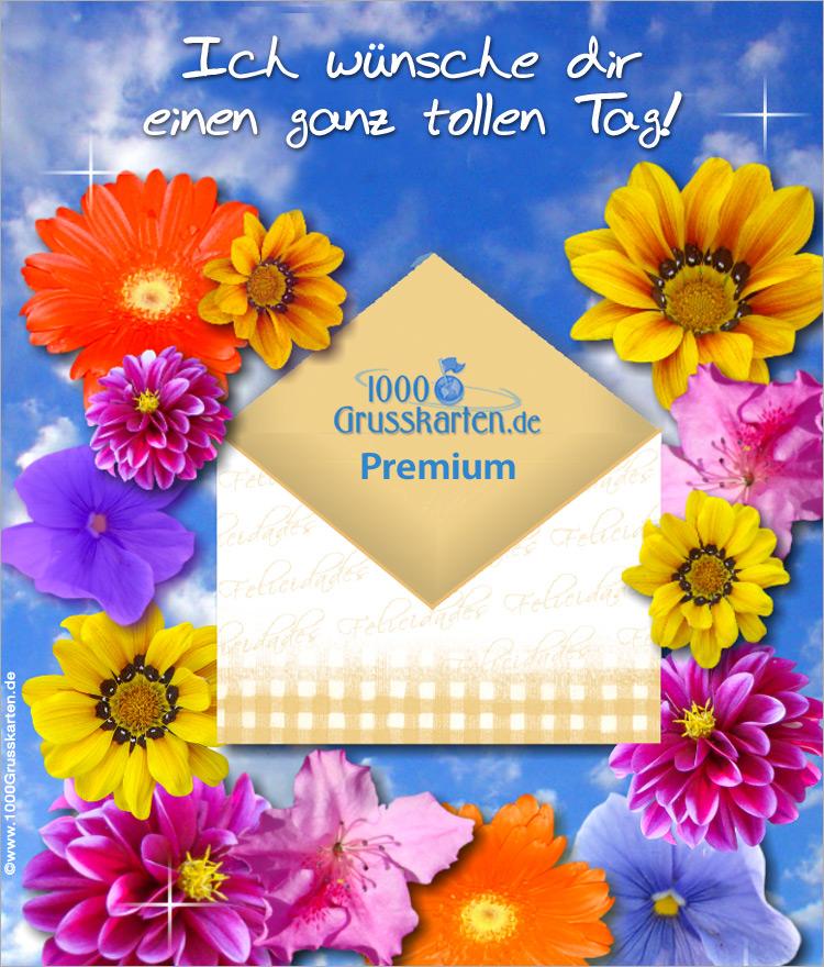E-Card - Push-ûp E-Card mit Blumen