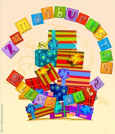 Push-ûp E-Card mit Geschenken