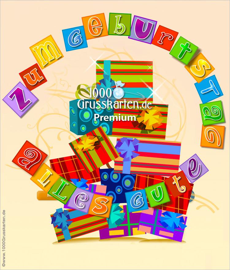 E-Card - Push-ûp E-Card mit Geschenken