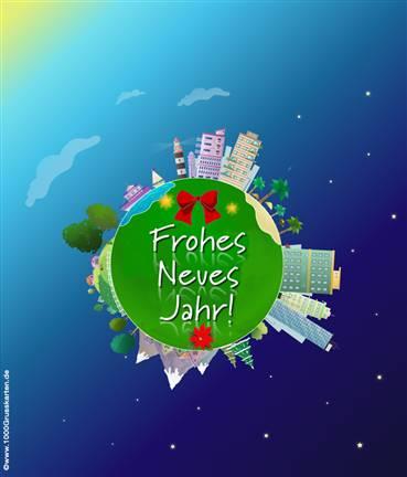 Push-ûp Frohes Neues Jahr