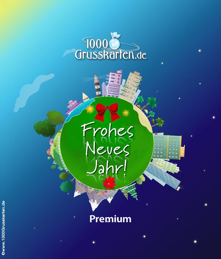 E-Card - Push-ûp Frohes Neues Jahr