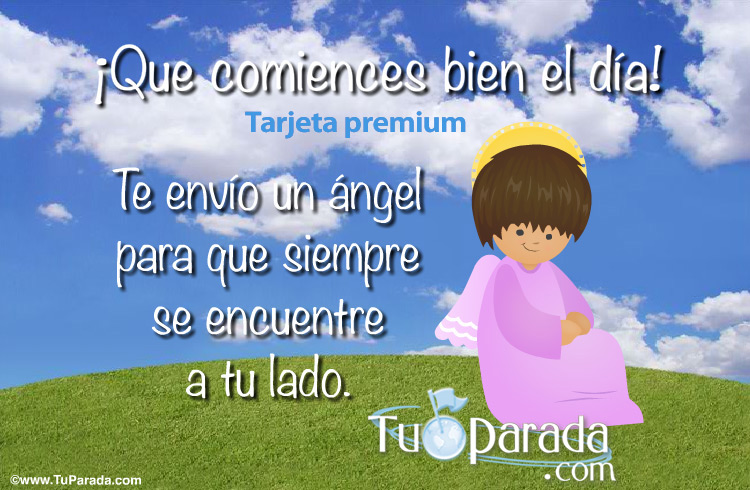 Tarjeta - Postal con un ángel