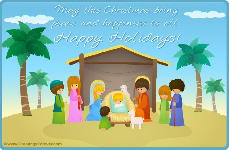 Ecard - Merry Christmas - Nativity eCard