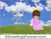 Ecard with an angel