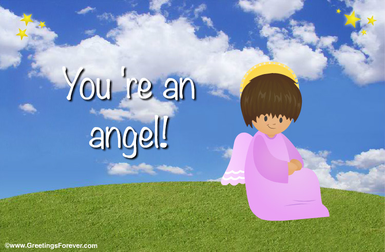 Ecard - Ecard with an angel