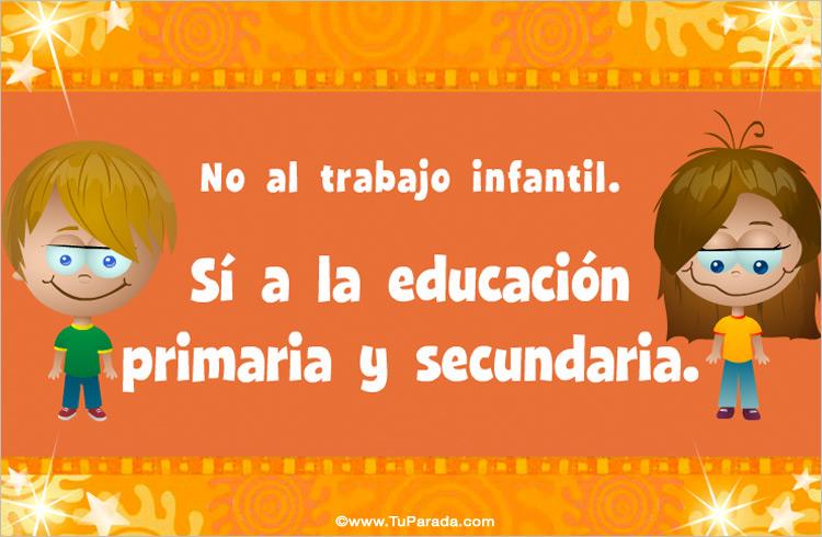 Tarjeta - Tarjeta para la educación primaria y secundaria