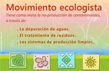 Tarjeta de movimiento ecologista