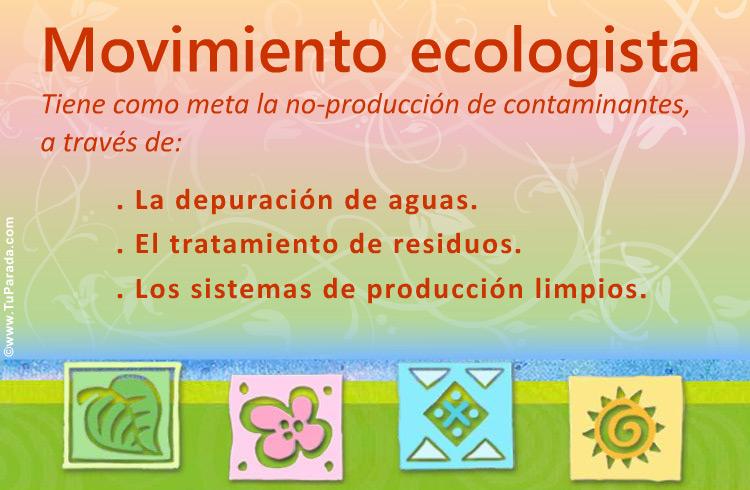 Tarjeta - Tarjeta de movimiento ecologista