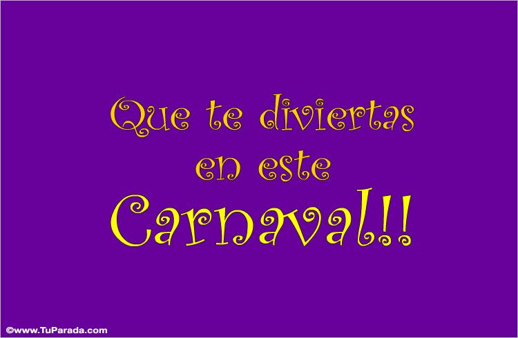 Tarjeta - Carnaval
