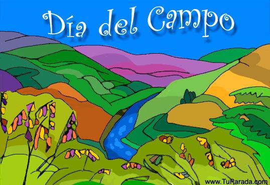 Tarjeta - Día del Campo.