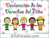 Día de los derechos del niño.