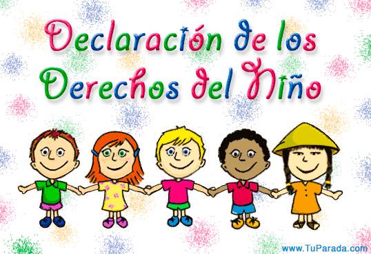 Tarjeta - Día de los derechos del niño.