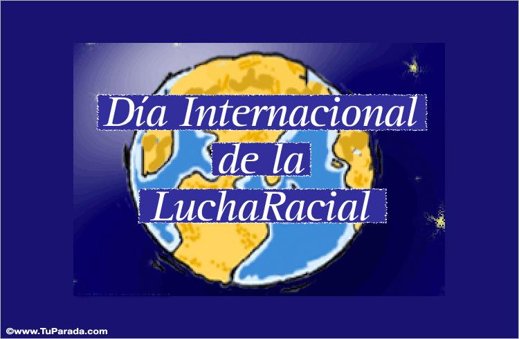 Tarjeta - Día Internacional de la Lucha Racial.