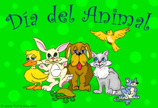 Tarjeta - Día del animal.