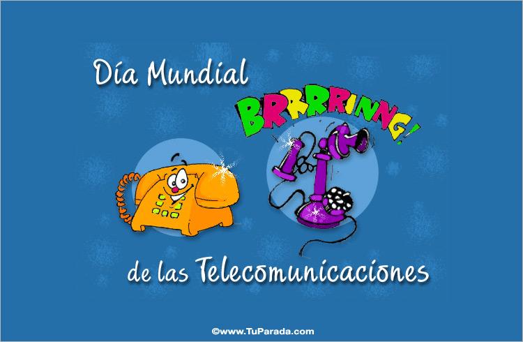 Tarjeta - Día de las Telecomunicaciones.
