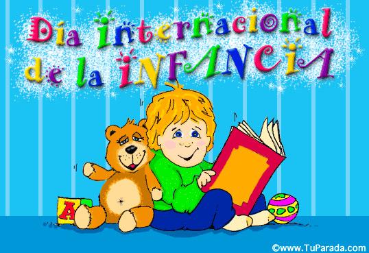 Tarjeta - Día internacional de la infancia.
