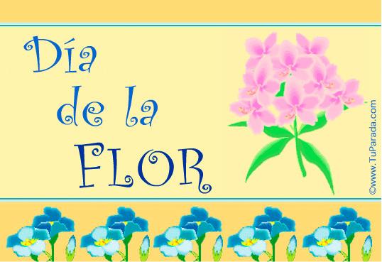 Tarjeta - Día de la Flor.