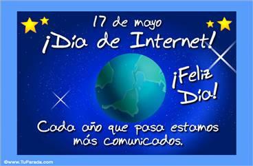 Tarjetas, postales: Día internacional de Internet