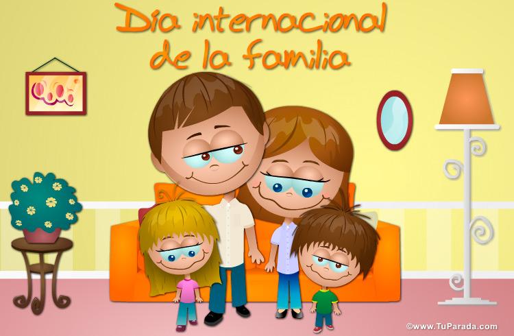 Tarjeta - Día internacional de la familia