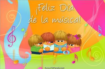 Tarjeta Día de la música