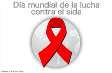 Tarjeta de lucha contra el sida