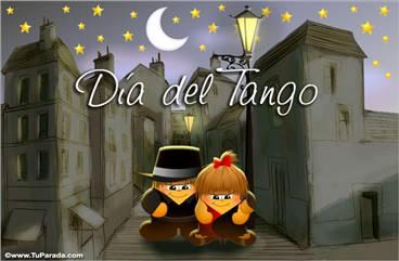 Tarjeta día del tango