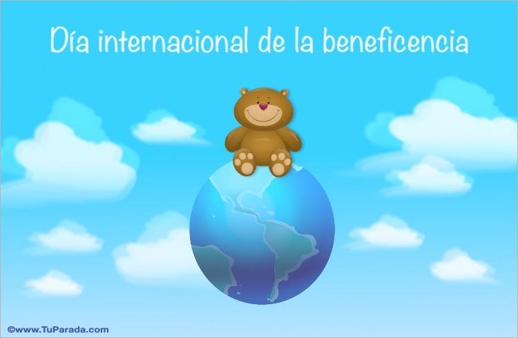 Tarjeta - Día Internacional de la Beneficencia