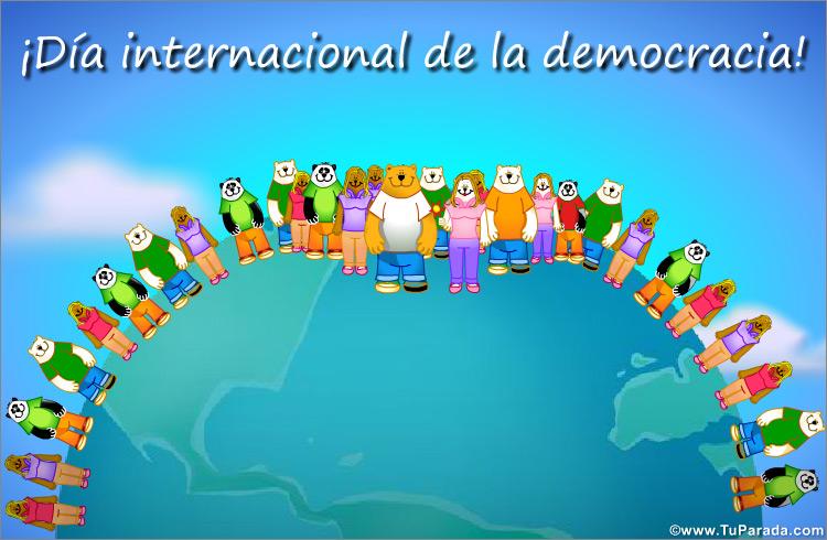 Tarjeta - Día internacional de la democracia