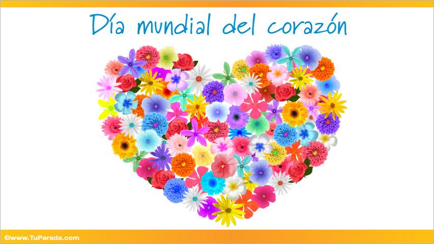 Tarjeta - Día mundial del corazón