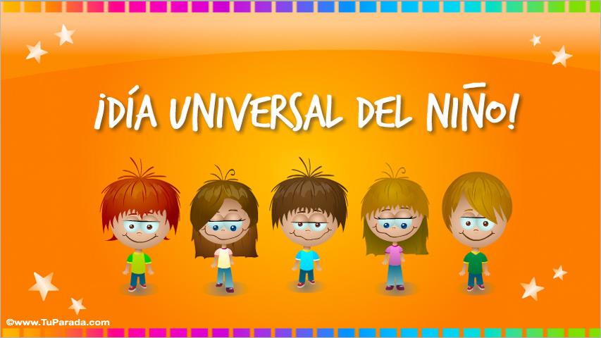 Tarjeta - Día Universal del Niño