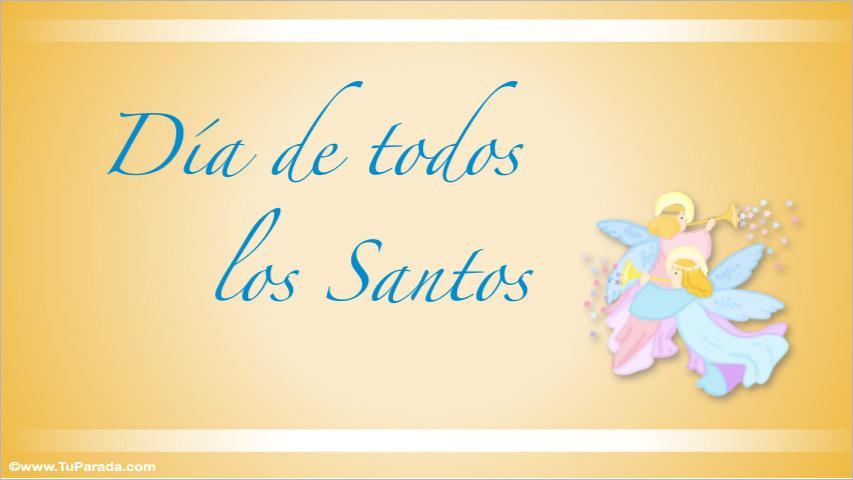 Tarjeta - Día de todos los Santos