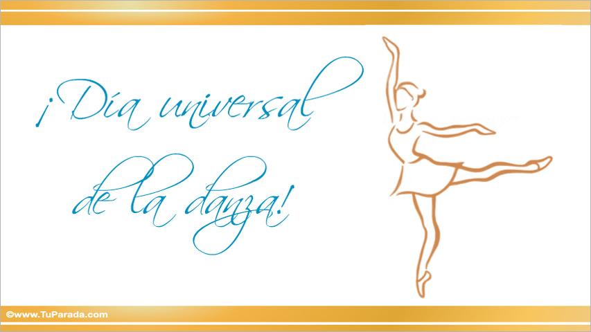 Ver fecha especial de Día internacional de la danza