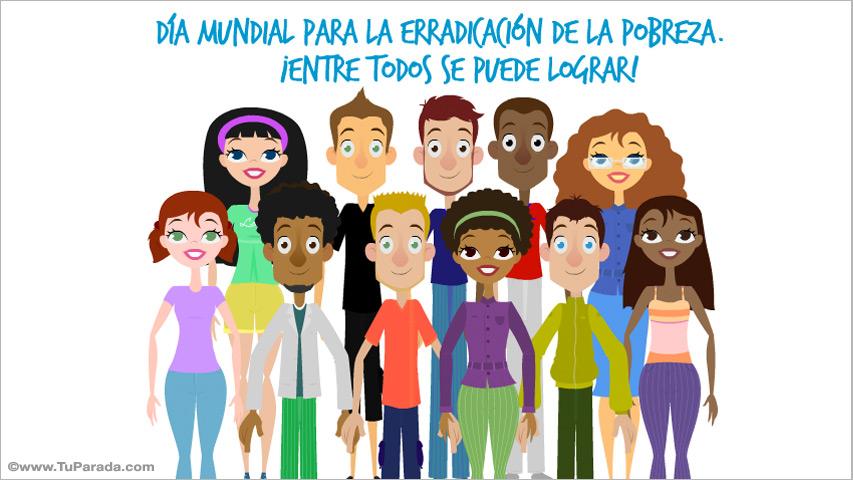 Ver fecha especial de Día mundial de erradicación de la pobreza