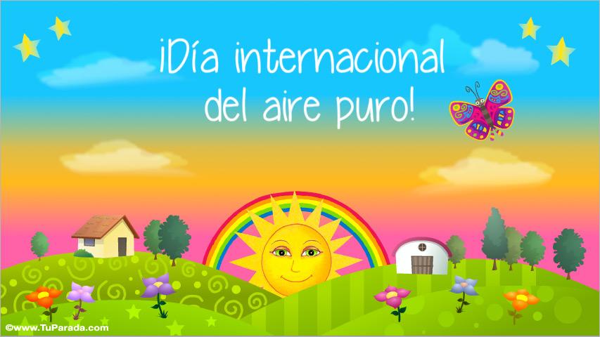 Tarjeta - Día internacional del aire puro